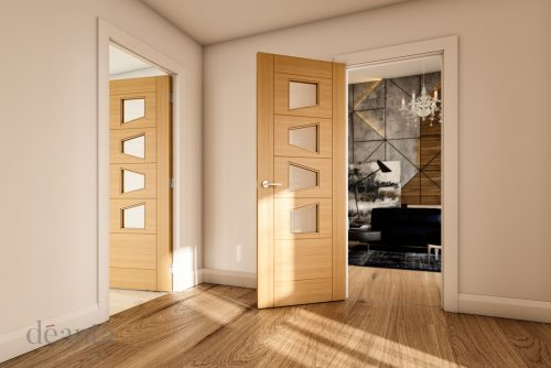Seville-4ls-glazed-oak-interior-door
