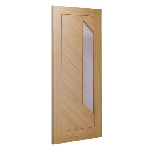 Torino glazed interior oak door