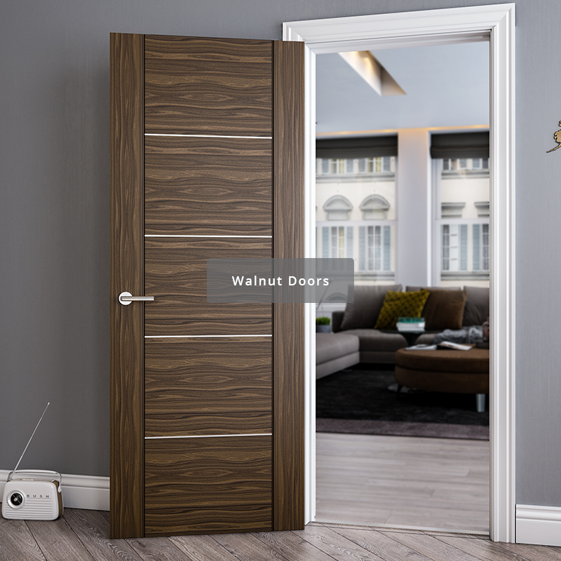 Deanta range of walnut interior doors