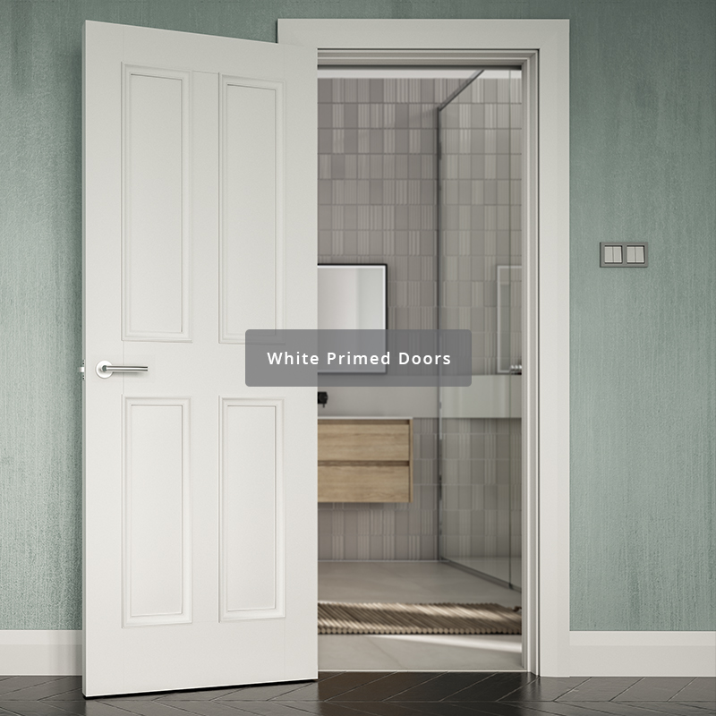 Deanta range of white primed interior doors