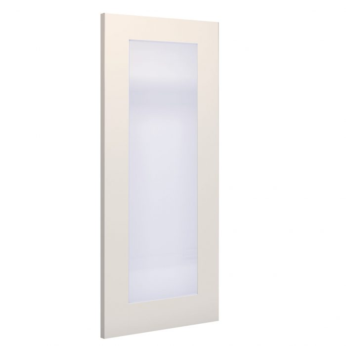 Denver obscure glazed interior white primed door